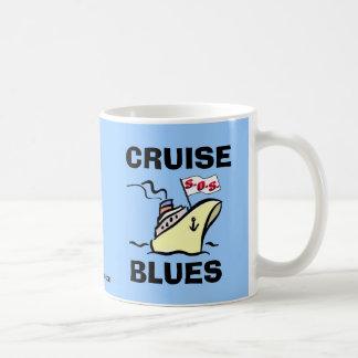 Azules de la travesía - esplendor del carnaval taza básica blanca