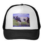Azules de la vaca de leche gorras de camionero