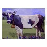 Azules de la vaca de leche tarjetas