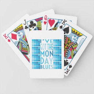 Azules de lunes baraja de cartas
