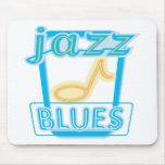 Azules de New Orleans Alfombrillas De Raton
