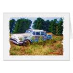 Azules de Oldsmobile del JunkYard Tarjeta