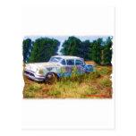 Azules de Oldsmobile del JunkYard Tarjeta Postal