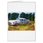 Azules de Oldsmobile del JunkYard Tarjetas