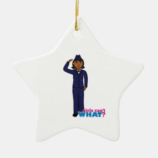 Azules de vestido de la fuerza aérea oscuros ornamento para arbol de navidad