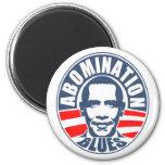Azules del aborrecimiento de Obama Iman De Frigorífico