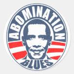 Azules del aborrecimiento de Obama Pegatina Redonda