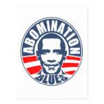 Azules del aborrecimiento de Obama Postales