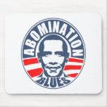 Azules del aborrecimiento de Obama Tapete De Ratón