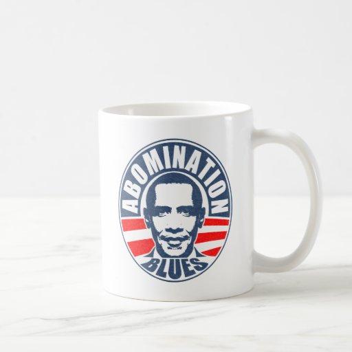 Azules del aborrecimiento de Obama Taza De Café