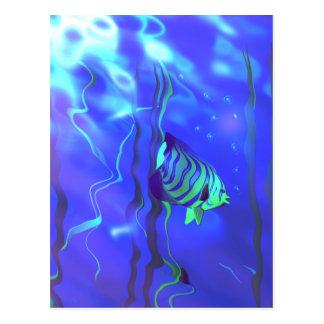 Azules del Angelfish Tarjetas Postales