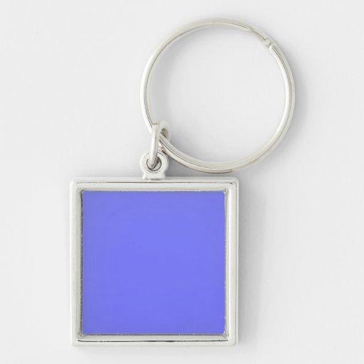 azules del bígaro llavero cuadrado plateado