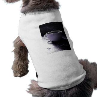 Azules del café playera sin mangas para perro