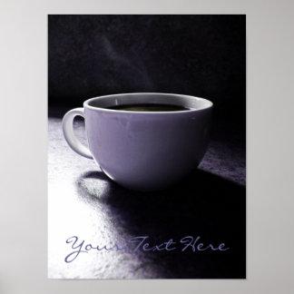 Azules del café póster