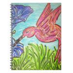 Azules del colibrí cuaderno