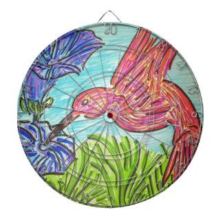 Azules del colibrí tabla dardos