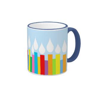 Azules del cumpleaños - el cumpleaños mira al tras tazas de café