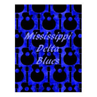 Azules del delta de Mississippi Postal