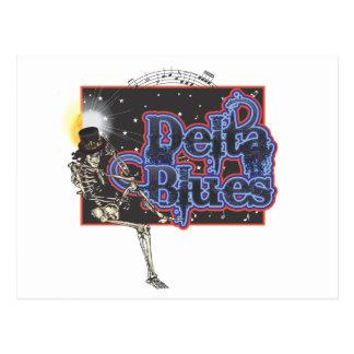 Azules del delta tarjeta postal