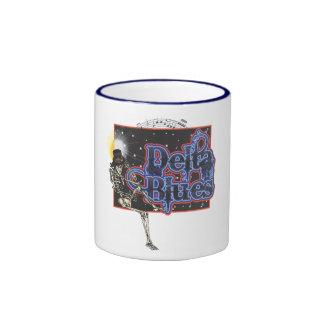Azules del delta taza de café