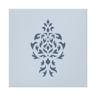 Azules del diseño del damasco del escudo I Lienzo Envuelto Para Galerias