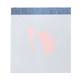 Azules del dril de algodón bloc de notas