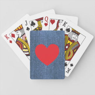 Azules del dril de algodón cartas de juego