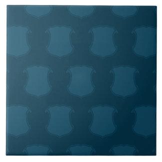 Azules del escudo del escudo azulejo cuadrado grande