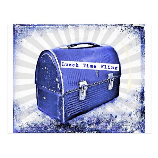 Azules del Fling del tiempo del almuerzo Postal