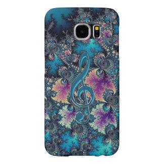 Azules del fractal con la caja metálica de la fundas samsung galaxy s6