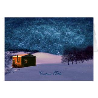 Azules del invierno de la pradera tarjeta de felicitación