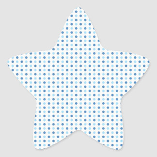 Azules del lunar pegatina en forma de estrella
