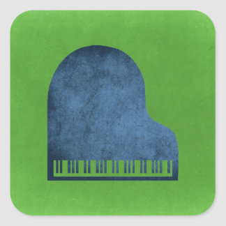 Azules del piano de cola pegatina cuadrada