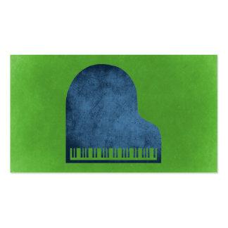 Azules del piano de cola tarjetas de visita