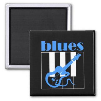 Azules del piano y de la guitarra imán
