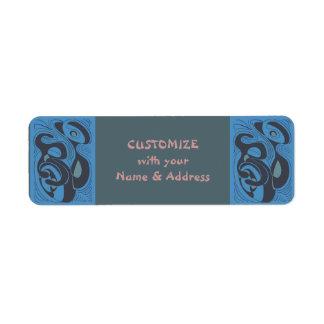 azules del strum'um etiquetas de remite