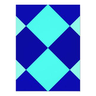 """¡AZULES DEL TABLERO DE DAMAS! ~ INVITACIÓN 6.5"""" X 8.75"""""""