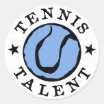 Azules del talento del tenis pegatina redonda