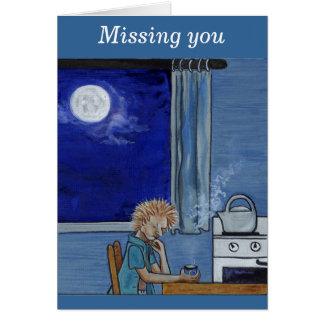 Azules del vapor de la caldera - falta de usted tarjeta de felicitación