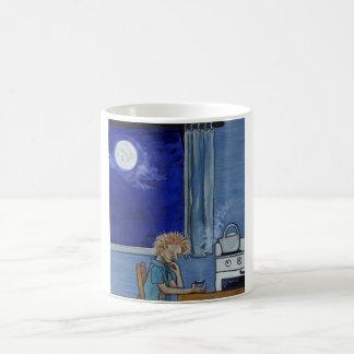 Azules del vapor de la caldera taza de café