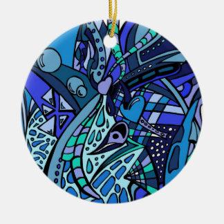 Azules dos ornaments para arbol de navidad