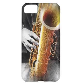 Azules en saxofón funda para iPhone 5C