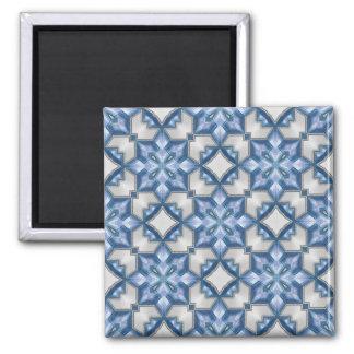 Azules escarchados imán