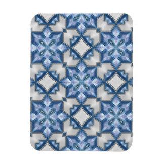 Azules escarchados imán flexible