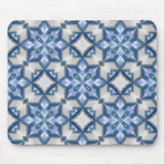 Azules escarchados alfombrillas de raton