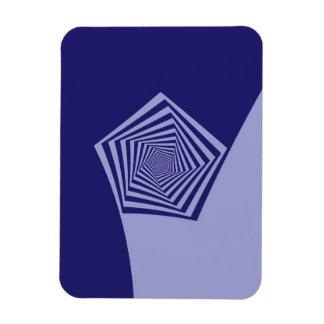 Azules espirales de Pentágono Imanes Flexibles