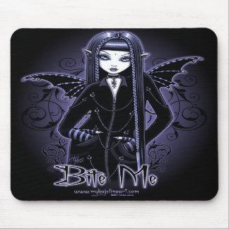 "Azules góticos del ""Mina"" me muerden vampiro Fae M Mousepad"
