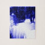 Azules hivernales rompecabeza con fotos