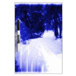 Azules hivernales tableros blancos
