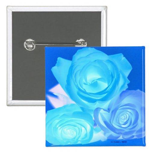 Azules imagen invertida tres rosas pin